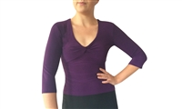 Style 3/4 Sleeve Matte Spandex Tango Top - Dancewear | Blue Moon Ballroom Dance Supply