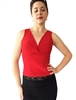 Style Matte Spandex V-Neck Tango Top - Dancewear | Blue Moon Ballroom Dance Supply
