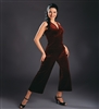 Style Stretch Velvet V-Neck Tango Top - Dancewear | Blue Moon Ballroom Dance Supply
