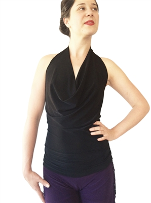 Style Draped Halter Tango Top - Dancewear | Blue Moon Ballroom Dance Supply