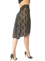 Style Simplicity Stretch Lace Tango Skirt - Dancewear | Blue Moon Ballroom Dance Supply