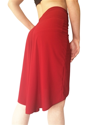 Style Simplicity Matte Spandex Tango Skirt - Dancewear | Blue Moon Ballroom Dance Supply