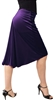 Style Simplicity Stretch Velvet Tango Skirt - Dancewear | Blue Moon Ballroom Dance Supply