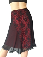 Style A-Line Lace and Mesh Tango Skirt - Dancewear | Blue Moon Ballroom Dance Supply