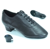 Style Tomas Black Leather Latin Shoe - JT & Tomas Collection | Blue Moon Ballroom Dance Supply