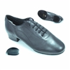 Style Tomas Black Leather Smooth Shoe - JT & Tomas Collection | Blue Moon Ballroom Dance Supply