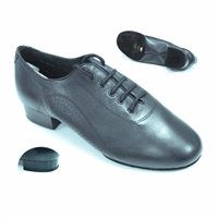 Style Tomas Black Leather Smooth Shoe