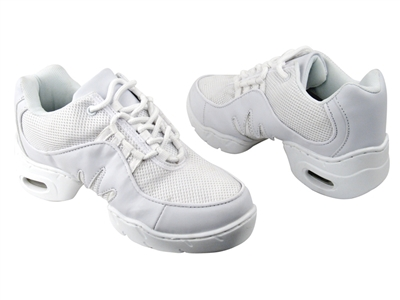 Style VFSN002 Air Cushion PU White Dance Sneaker - Unisex Dance Shoes | Blue Moon Ballroom Dance Supply
