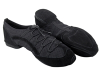 Style VFSN005 Suede Split Sole Black Dance Sneaker | Blue Moon Ballroom Dance Supply
