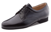 Style WK 28050 Extra Wide Mens Black Leather Shoe