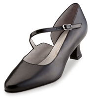 "Style WK Rita Black Leather 2"" Heel - Women's Dance Shoes 