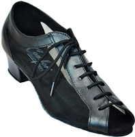 Style Comfort Classic Ladies Black Leather & Mesh Practice | Blue Moon Ballroom Dance Supply