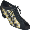Style Comfort Classic Ladies Black Nubuck & Checker Mesh Practice | Blue Moon Ballroom Dance Supply