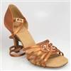 Style Ray Rose Raindrop Light Tan Satin - Women's Dancewear | Blue Moon Ballroom Dance Supply