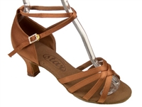 "Style SDS Scorpio Dark Tan Medium Width 2"" Heel - Women's Dance Shoes 