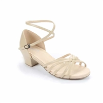 Style SD Cara Beige Leather Dance Sandal - Women's Dance Shoes | Blue Moon Ballroom Dance Supply