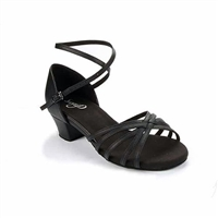 Style SD Cara Black Leather Dance Sandal