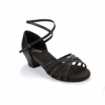 Style SD Cara Black Leather Dance Sandal - Women's Dance Shoes | Blue Moon Ballroom Dance Supply