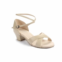 Style SD Jenna Beige Leather Dance Sandal