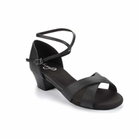 Style SD Jenna Black Leather Dance Sandal - Women's Dance Shoes | Blue Moon Ballroom Dance Supply