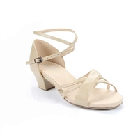 Style SD Maya Beige Leather Dance Sandal - Women's Dance Shoes | Blue Moon Ballroom Dance Supply