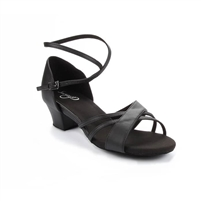 Style SD Maya Black Leather Dance Sandal