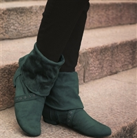 Style SD Urban Step Bottle Green Dance Boot