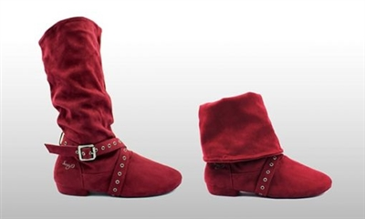 Style SD Urban Step Burgandy Dance Boot - Women's Dance Shoes | Blue Moon Ballroom Dance Supply