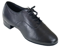 Style SDS Mens Oxford Black Leather Narrow Shoe - Men's Standard & Smooth | Blue Moon Ballroom Dance Supply