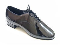 Style SDS Mens Oxford Black Patent Smooth Shoe - Men's Standard & Smooth | Blue Moon Ballroom Dance Supply