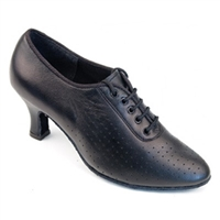 "Style SDS Tabit Black Leather 2.2"" Cuban Heel Shoe"