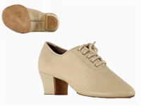 Style SDS Viktoria Beige Leather Split Sole Practice Shoe