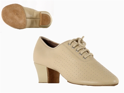 Style SDS Viktoria Beige Leather Split Sole Practice Shoe | Blue Moon Ballroom Dance Supply