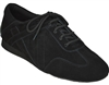 Extra-Depth Padded Insole Unisex Ultimate Hybrid Black Suede Dance Sneaker | Blue Moon Ballroom Dance Supply