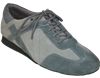 Extra-Depth Padded Insole Unisex Ultimate Hybrid Grey Suede Dance Sneaker | Blue Moon Ballroom Dance Supply