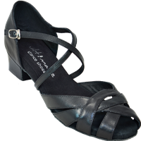Ultimate Wrapstar Black Leather - Unisex Dance Shoes | Blue Moon Ballroom Dance Supply