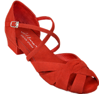 Ultimate Wrapstar Red Suede - Unisex Dance Shoes | Blue Moon Ballroom Dance Supply