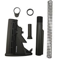 Model 4/15 Complete Six Position Mil-Spec Butt Stock Kit Black - AC-BTSK1M4-B