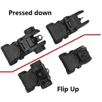 Polymer Front And Rear AR Flip Up Sight Set Black - AC-FRSPL-B