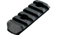Magpul MOE Polymer Rail Section, 5 Slots - MAG406-BLK
