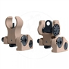 Troy Industries Micro BattleSight Set - HK Front and Round Rear - Flat Dark Earth
