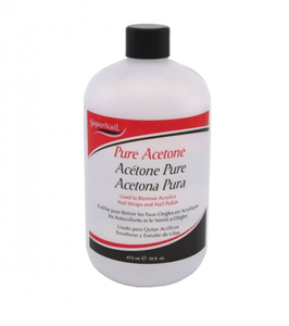 Super Nail Pure Acetone 16 fl. oz.