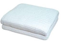 White Cotton Blanket 66x90 100% Cotton Thermal Snag-Free