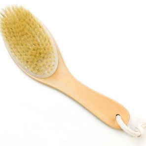 Curved Handle Dry Body Brush
