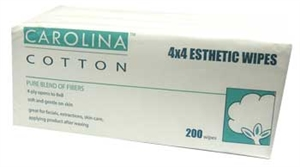 Carolina Cotton - 4x4 Esthetic Wipes