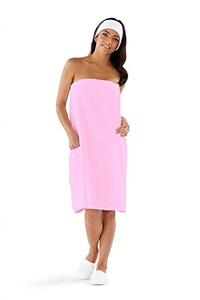Boca Terry Pink Spa Wrap for Women