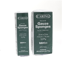 Caring Gauze Sponges 12-ply