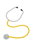 3M Yellow 1-Tube 28.5 Inch Single Head Chest Piece Disposable Stethoscope - Case of 100