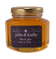 Honey Wedding Favours Canada, Ontario. 140g jar.
