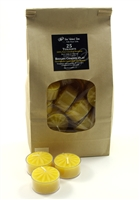 Beeswax Tealights, 25 pack
